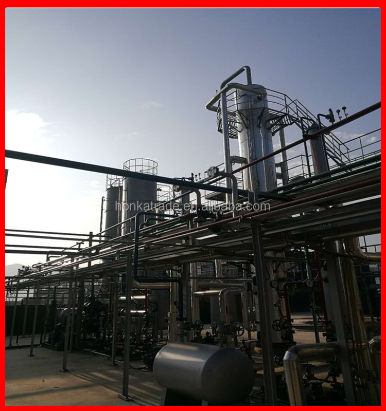 Continuous used engine oil refinery plant of thin film evaporator for base oil