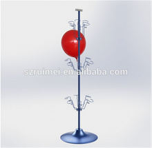 3 Tier Modern, Smooth, Luster Metal Blloon Stand