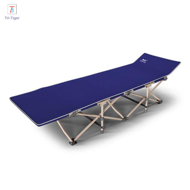 Wholesale Durable Aluminum blue gray red Portable Military Folding Camping <strong>Bed</strong>