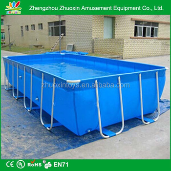 Pvc cheap giant rectangle metal hard plastic swimming for Rectangle above ground pool hard sided