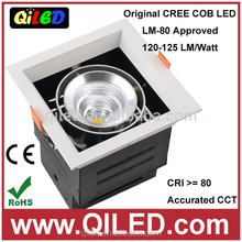 New product Square 25W cob ceiling led grille down light CE&ROHS