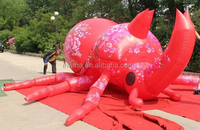 2.5m high*5m length customized inflatable unicorn/red/beetle/for advertising/events display W449