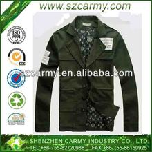 New 100% Cotton Men's Pilot Leisure Army style Windproof Jacket in Military Green