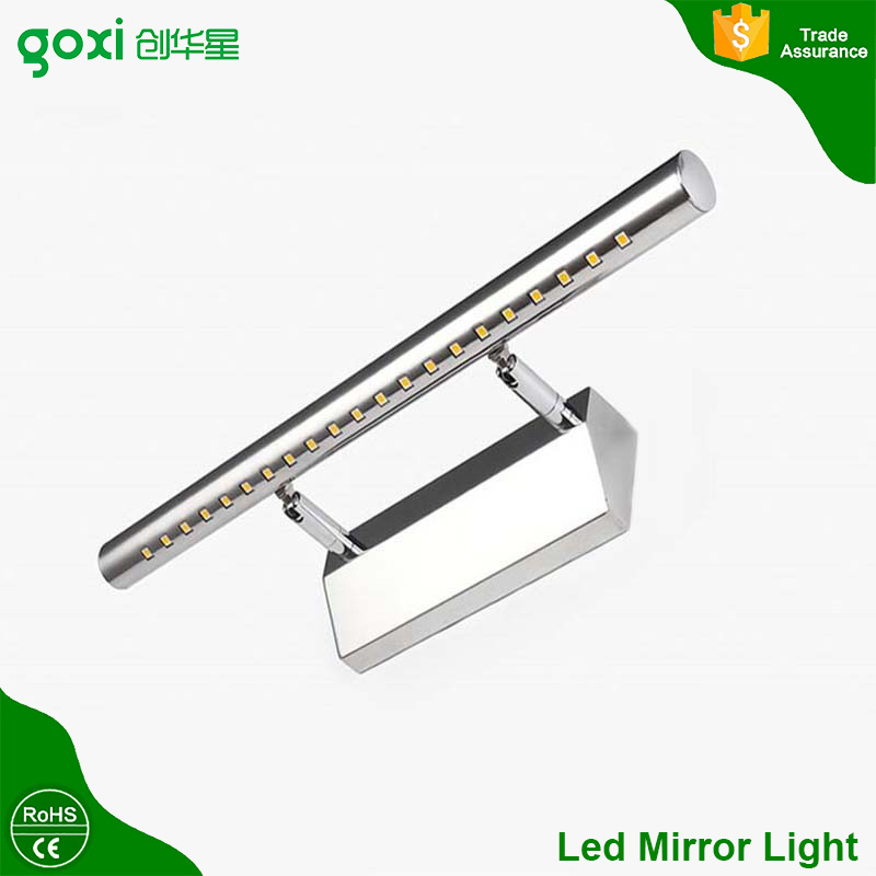 Modern bathroom, mirror cabinet use 9w IP44 SMD5050 40pcs stainless steel led mirror light with touch sensor switch