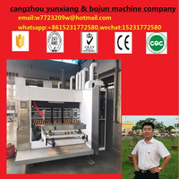 2016 CHINA New Technology/Full Auto Flexo Ink 3 Colors Printing Slotting Die Cutting Machine/Carton