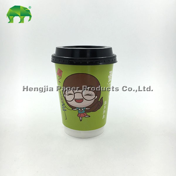 custom logo offset printed European version 8oz 250ml disposable recycled double wall coffee paper cup