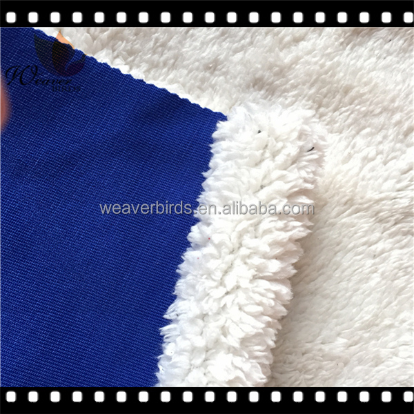 knitted Rib fabric bond coral fleece for warm woman garment /knitted sweater fabric