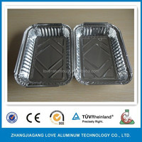 Pollution-free Convenient Best-Selling Hot Sell Disposable Waterproof Aluminum Box White Packaging Box Aluminum Box