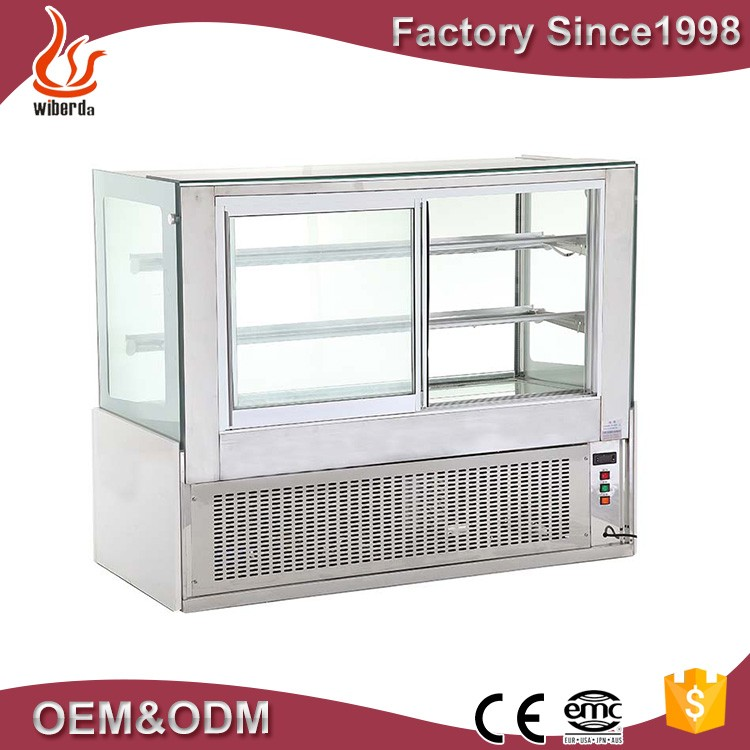 Fan cooling refrigerated bakery and cake display cases front open cake fridge CSD528