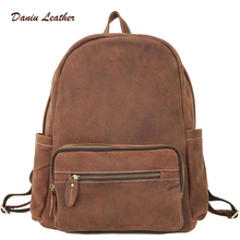 2017 HOT China factory best-selling men brand backpack leather bag school backpack