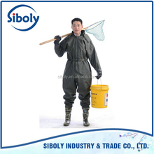 Hot Sale Custom made garage workwear / full body pvc waterproof winter working coverall