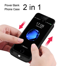 External Mobile Phone 4300mah TPU Battery Cases Power Charge Cover for iphone 7 7plus