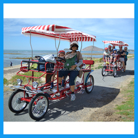 4- wheeled surrey bicycle for family
