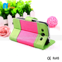 For Samsung Colorful Mobile Phone Cases Horizontal Belt Clip Holster PU Leather Pouch Case Cover