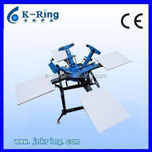 Hand 4 color/4 station KR440M screen printing rotary machine