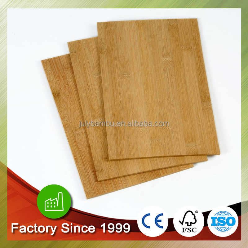 Carbonized horizontal 1 layer 1/4 in 6.37mm bamboo plywood china factory