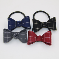 Factory Direct Sale Korea Classic Stripe Grid Bow Tie Nano Ring Hair