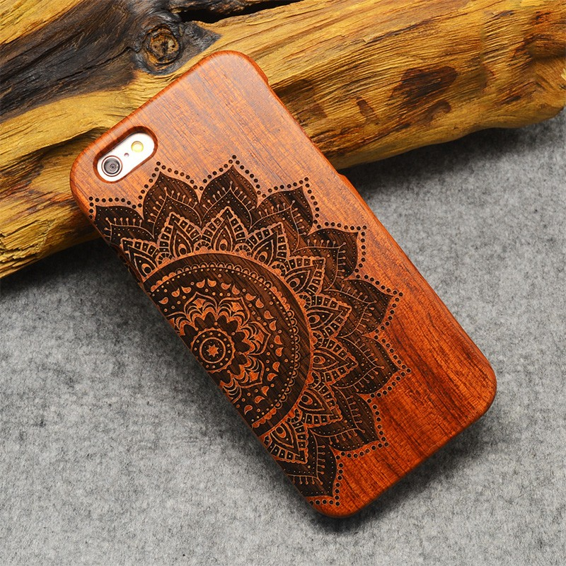 Hot Sale Factory Price Bamboo wood Printing Cell phone protective cases For iphone4 5 6 6s Plus 7 7 plus