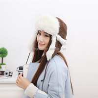 Earmuffs Lei Feng Hat Ear Cap Snowflakes Knitting Warm Trapper Hat Women Russian Hat Sport Outdoor Ear Flaps Bomber Caps For Men