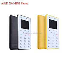 DIHAO AIEK X6 M5 M3 Card Mobile Phone Ultra Thin Pocket Mini Phone languages phone FM Aiek five Model