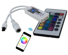 magic home New Wifi LED RGB / RGBW Controler DC12V MIni Wifi + IR 24 Key Remote Controller for RGB / RGBW LED Strip