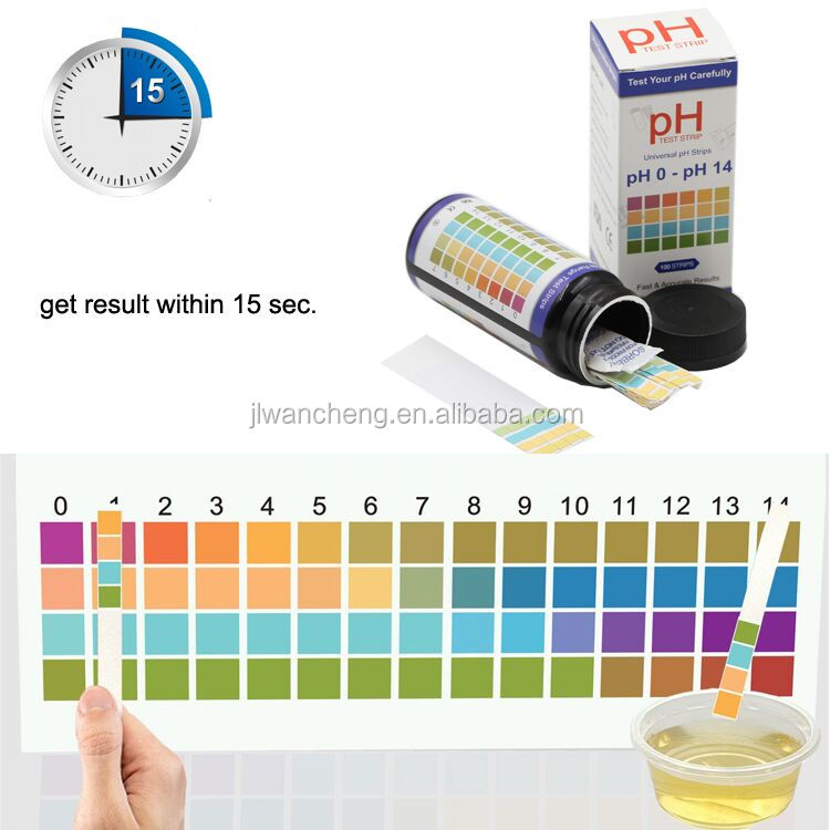 Made in Cina cheap price FDA approved Range 0-6 accurate ph paper, universal ph test paper