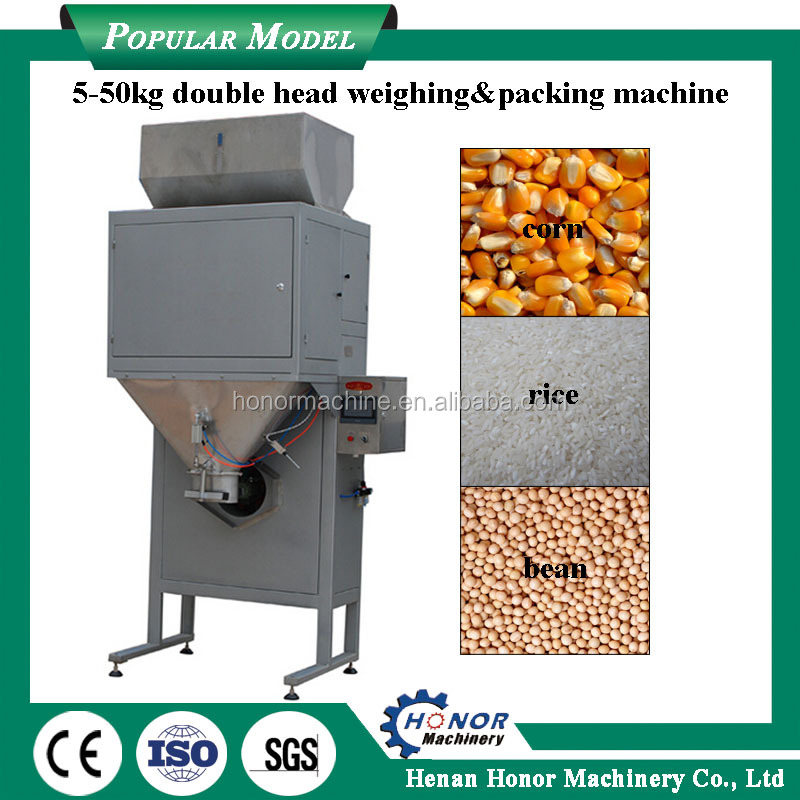 Automatic Multi Heads Weigher Packing Machine for Dry Beans Washing Powder