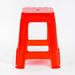 Wide Stripe Etched Plastic Stool - X Large Cheapest Economic and Practical Wide Plastic Chair for Factory