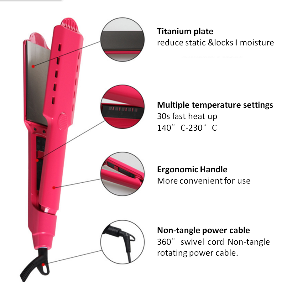 2019 Hot selling royal digital display temperature hair straightener