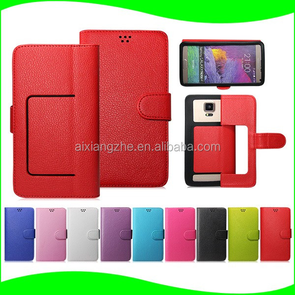 In Stock ! Leather Back Cover Soft Silicone rubber Case for Iphone ,universal waterproof case for 4.7 inch cell phone