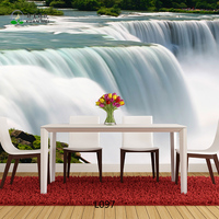Washable Large 3D Wallpaper Waterfall Background Photo Mural