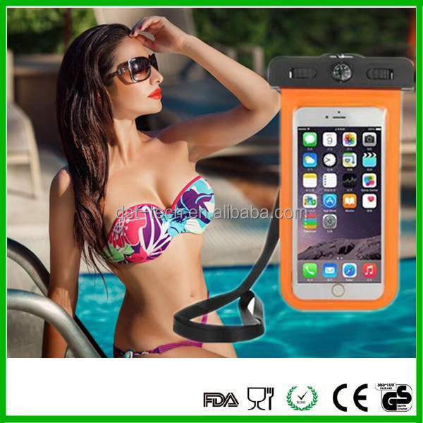 High quality mobile phone floating 6inch Waterproof phone case