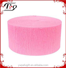 party decoration pink crepe streamer
