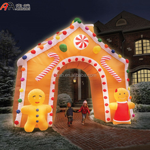 Illuminated Inflatable Christmas Candy House/ Lighting Christmas Decorative Archway