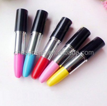 multi color plastic lipstick ballpoint pen for woman
