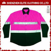 custom made class 3 pink reflective work shirts women