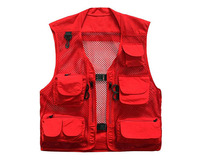 Outdoor Quick-Dry Fishing Vest; Multi Pockets Mesh Vest Fishing Hunting Waistcoat Travel Photography Jackets
