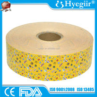 Yellow waterproof PE medical base material for band aid