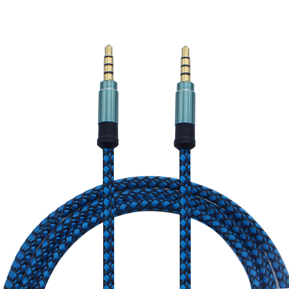 2018 new 3.5 Stereo 1.5m auxiliary cord audio cable 3.5mm male to male Long Braided Aux Cable for phone