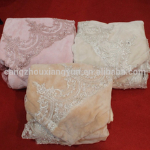 Short Plush wirh lace bed sheet for home textile
