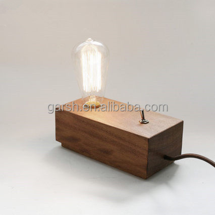 Vintage Edison Bulb Wooden Table Lamp Wholesale
