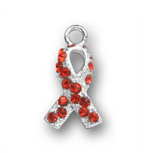 AIDS Patients And Heart Disease Ribbon Awareness Charm Factory HotSale Jewelry