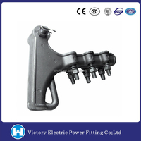 VIC Overhead Line Fittings OEM Aluminum Alloy Deadend Clamp Strain Clamp Wire Tension Clamp