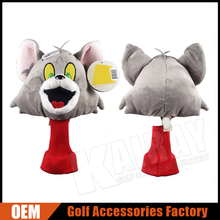 Custom Animal Golf Head Covers Cat Tom Character Driver Covers