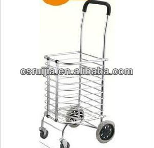 chrome coated shopping bag with wheels in alibaba