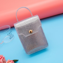 New arrival girls crossbody pvc jelly shoulder bag handbag with <strong>nail</strong> chain pvc purse