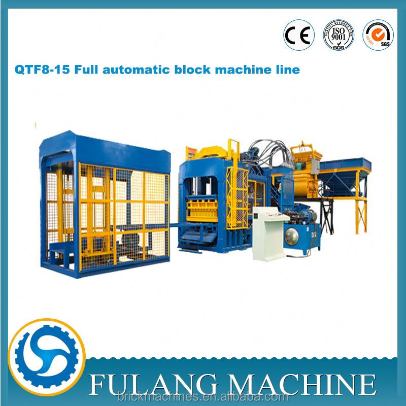 QTF8 - 15 Automatic road paving construction equipment concrete block machine supplier