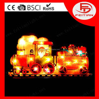 christmas new design battery control warm lighting decorative with train new style led pvc light