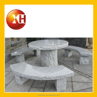 outdoor garden stone table with umbrella hole for home ornaments