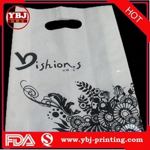 Popular Plastic Mesh Bags Printed Carry Plastic PE Shopping Bag with Soft Loop Handle